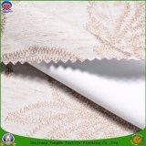Tela de linho tecida da cortina do poliéster do franco de matéria têxtil escurecimento impermeável Home para o indicador