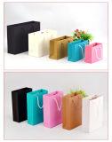 Saco de papel feito sob encomenda do projeto da forma para a compra ou o presente