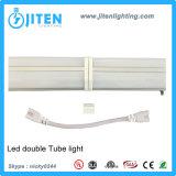 asse 60W di 1FT-8FT che misura la doppia UL Integrated ETL Dlc del dispositivo del tubo di T5 LED approvato