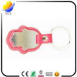 Kundenspezifisches Firmenzeichen-Leder-Schlüsselkette mit Druckknopf-Zusatzgerät