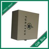 Изготовленный на заказ бумажная коробка подарка с пластичной ручкой