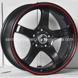 Серебр/гипер чернота/кром катят оправы колеса сплава автомобиля F101031