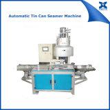 Boîte en fer blanc petit en métal rond automatique cousant la machine de Seamer