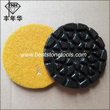 Пусковая площадка пола Cr-28 полируя для каменного бетона (Dia: 100mm, t: 6.0mm)