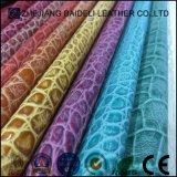 Cuoio sintetico di vendita caldo del materiale del PVC dell'unità di elaborazione del reticolo classico del coccodrillo