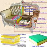 Sofá de cuero con las cabinas del vector para los muebles de la sala de estar
