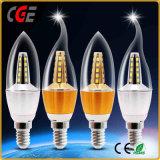 Lampadina di alluminio di fusione sotto pressione della candela della lampadina 4W E27 LED