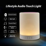 밤 Bluetooth 휴대용 스피커를 가진 가벼운 테이블 램프, 접촉 통제 침대 곁 색깔 LED 옥외 램프, MP3 Muisc 선수/핸즈프리 스피커 전화
