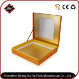 Rectángulo de empaquetado de papel modificado para requisitos particulares del regalo de la cartulina de la impresión de la insignia 4c