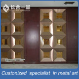 新式の装飾的な金属折るスクリーンの壁パネル部屋ディバイダ