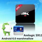 La meilleure vente Amlogic S912 Modèle intelligent Wechip H96 PRO Octa base Android 6.0 TV Box avec 2g 16g et Kodi 16,0 Pré-installation