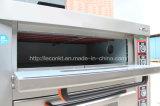 Horno eléctrico de las solas de la cubierta bandejas del doble para el precio de la hornada del pan