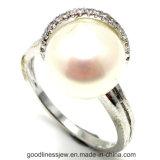 真珠(R10180)が付いている工場価格925の銀製のリング