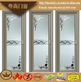 Puertas con bisagras aluminio para la decoración interior del cuarto de baño con las flores