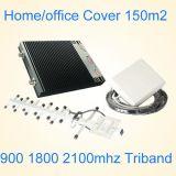 De Spanningsverhoger van het Signaal van de Telefoon van de Cel van de tri-band, 2g 3G 4G Spanningsverhoger van het Signaal van /China van de Apparatuur van het Signaal 2600 1800 2100MHz de Hulp Mobiele