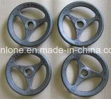 Roda de mão do metal da carcaça de areia do OEM de China com revestimento de pulverizador