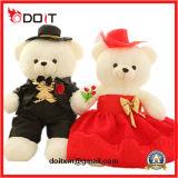 Jouets de peluche d'ours de couples d'ours de jouets de peluche de mariage