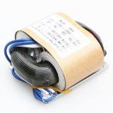 La base del tipo transformador de R no tiene ningún boquete magnético y el enrollamiento es equilibrado