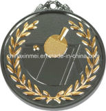 7cm Two Tone Color Football Medal
