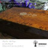 Rectángulo de empaquetado del té de madera de lujo de encargo del estilo chino de Hongdao para Sale_L