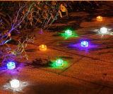 Lumière solaire de route de cadre en pierre de jardin