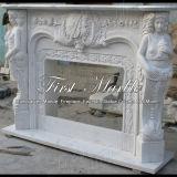 Camino bianco Mfp-615 di Carrara del camino del camino di pietra del camino di marmo del granito