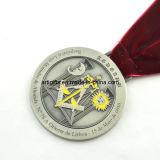 Medaglia del metallo di marchio di disegno del cliente con il nastro