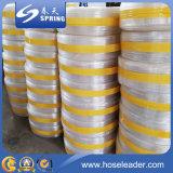 Le niveau clair de PVC de plastique renforcent le tube transparent