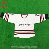 Healong mais barato tintura Sublimated White Hockey Uniformes
