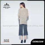 Karen-Frauen-langer Hülsen-Seiten-Schlitz-Fall-strickende Strickjacke-Oberseiten