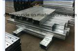Canal de acero de U con la superficie galvanizada