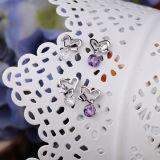 Бабочка стерлингового серебра способа 925 женщин целует кристаллический серьги