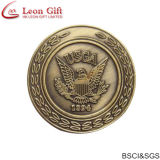 Custom 3D Gold Embossed Eagle White House Challenge Coin