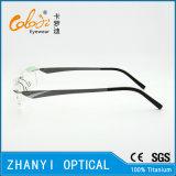 Het lichtgewicht Randloze Frame van de Glazen van Eyewear van het Oogglas van het Titanium Optische met Scharnier (5012)