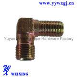 Type droit compresseur du coude T ajustant l'ajustage de précision pneumatique