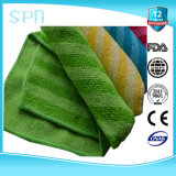 Stripe Stronger Water Absorbent Yarn Dyed Split Microfiber Cleaning Cloth