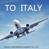 Servizio dell'aereo da trasporto dalla Cina a Napoli, Italia