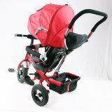 おおいEn71が付いている折る赤ん坊の三輪車は承認した