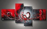 Stretched Abstract Oil Painting for Wall Decoration