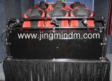 5D 6DOF Plataforma Hidráulica com 6 assentos Cinema