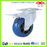 Blaues elastisches Gummifußrollen-Rad (P120-33D75X32S)