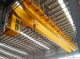 кран прогона двойника мостового крана вешалки Qd 16/3.2ton надземный с машинным оборудованием электрической лебедки поднимаясь для мастерской