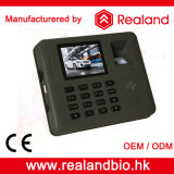 Impressão digital biométrica e de cartão de RFID comparecimento do tempo