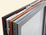 Finestra di alluminio della stoffa per tendine dei telai del doppio di profilo della rottura termica Colourful Kz143 con la multi serratura