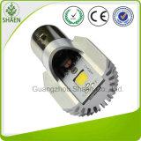 6500k 백색 M2s Ba20d LED 기관자전차 헤드라이트