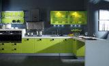 Mobília acrílica da cozinha de Sereis do projeto moderno (zv-030)