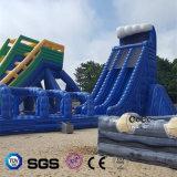 Blauwe Opblaasbare Grote water-Dia voor het Spel van het Water voor Volwassen LG8097