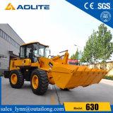 chargeur en pierre hydraulique 630 de roue de position d'usine de 3000kg Chine