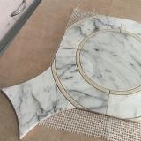 Mosaïque à jet d'eau à jet d'eau Carrara