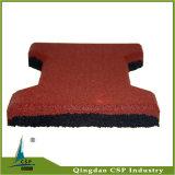 плитка косточки собаки красного цвета 23mm резиновый для спортивной площадки